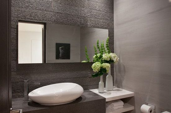 Bathroom Remodel Modern Style Recessed Lights Brown Color Scheme