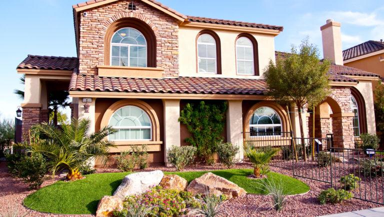 Landscape Remodel Succulents Palms Rocks Boulders Xeriscape
