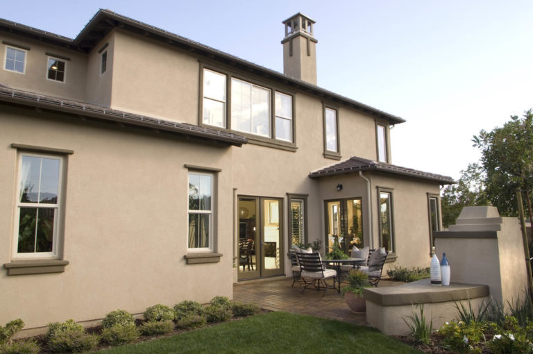 House with Light Brown Exterior Coat Job