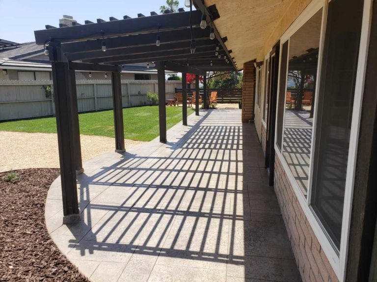 Brown Pergola and Landscape Remodel in San Diego