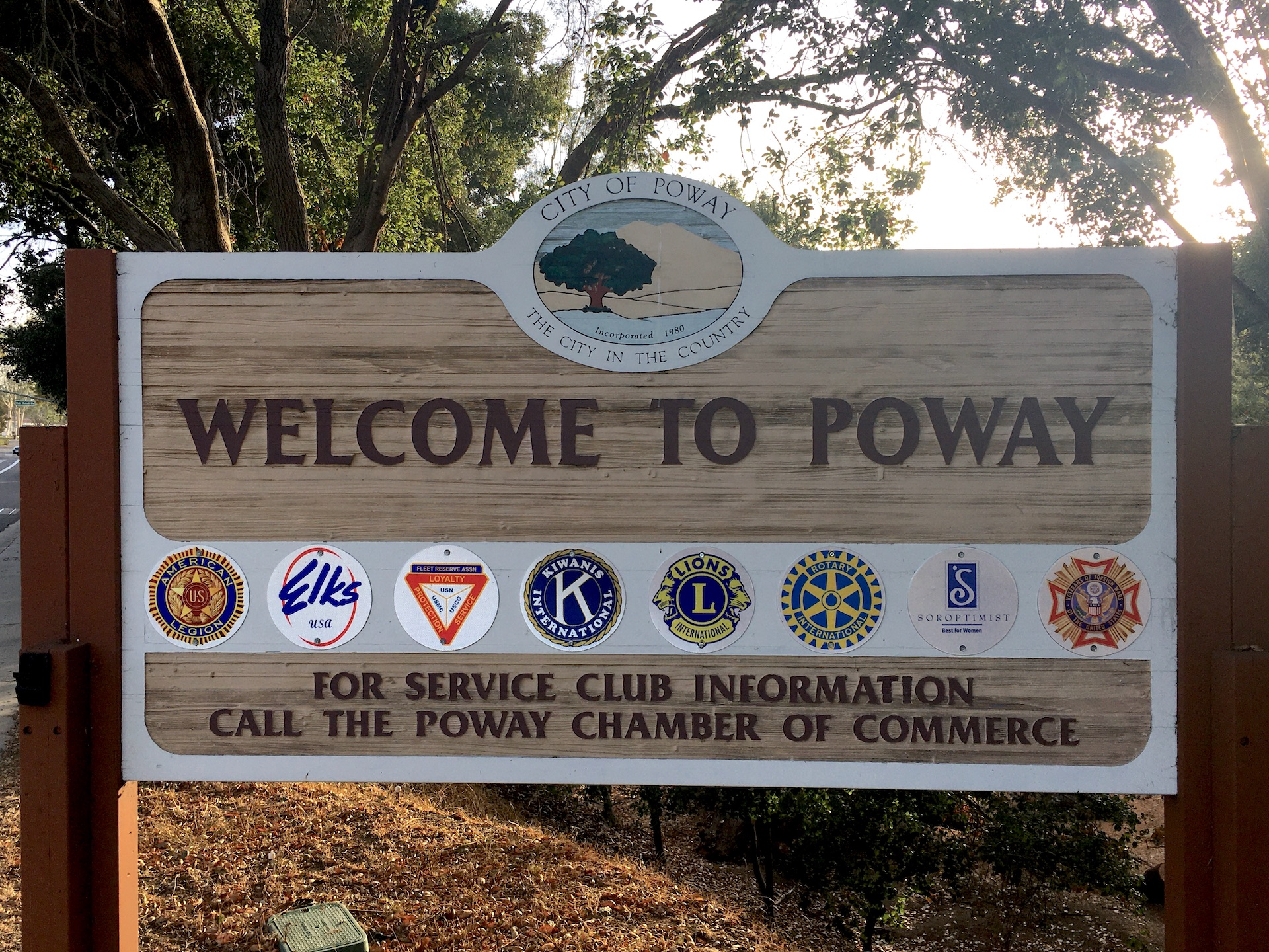 Poway Welcome Sign