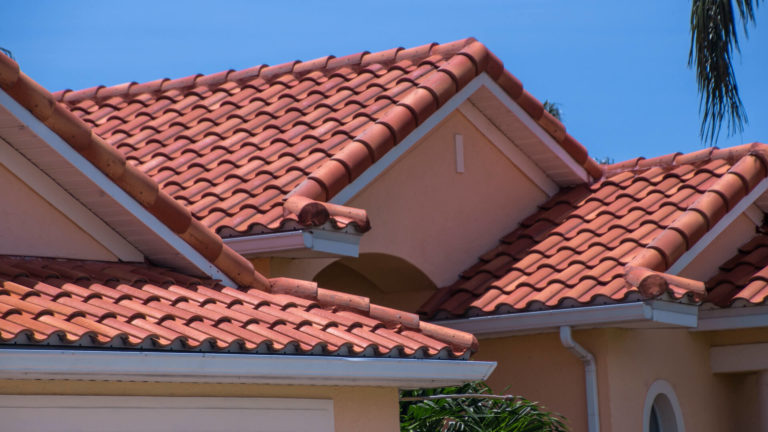 Spanish clay tile roof install