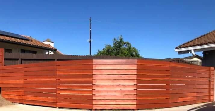 Horizontal Slat Wooden Fence