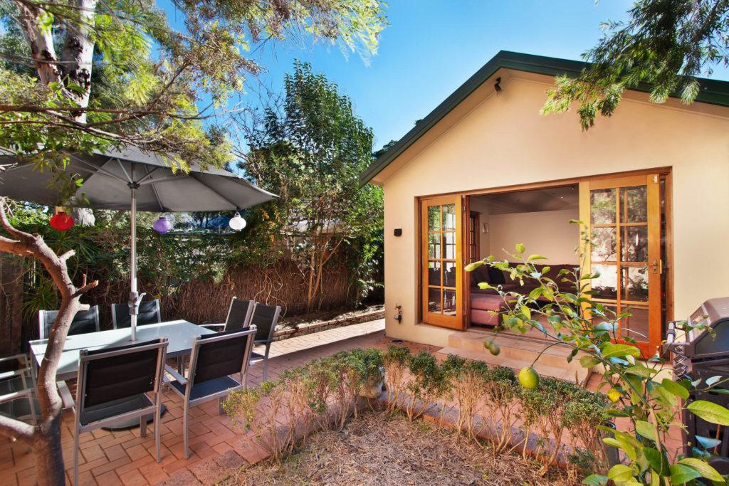 Earth Tone San Diego Granny Flat housing in backyard