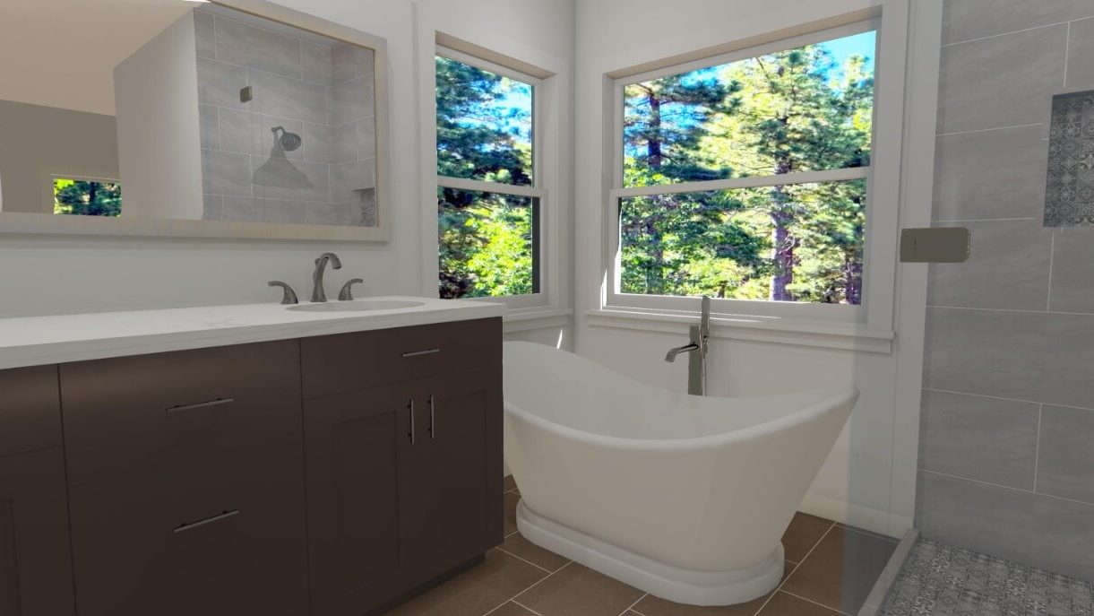 3D Bathroom Design in San Diego