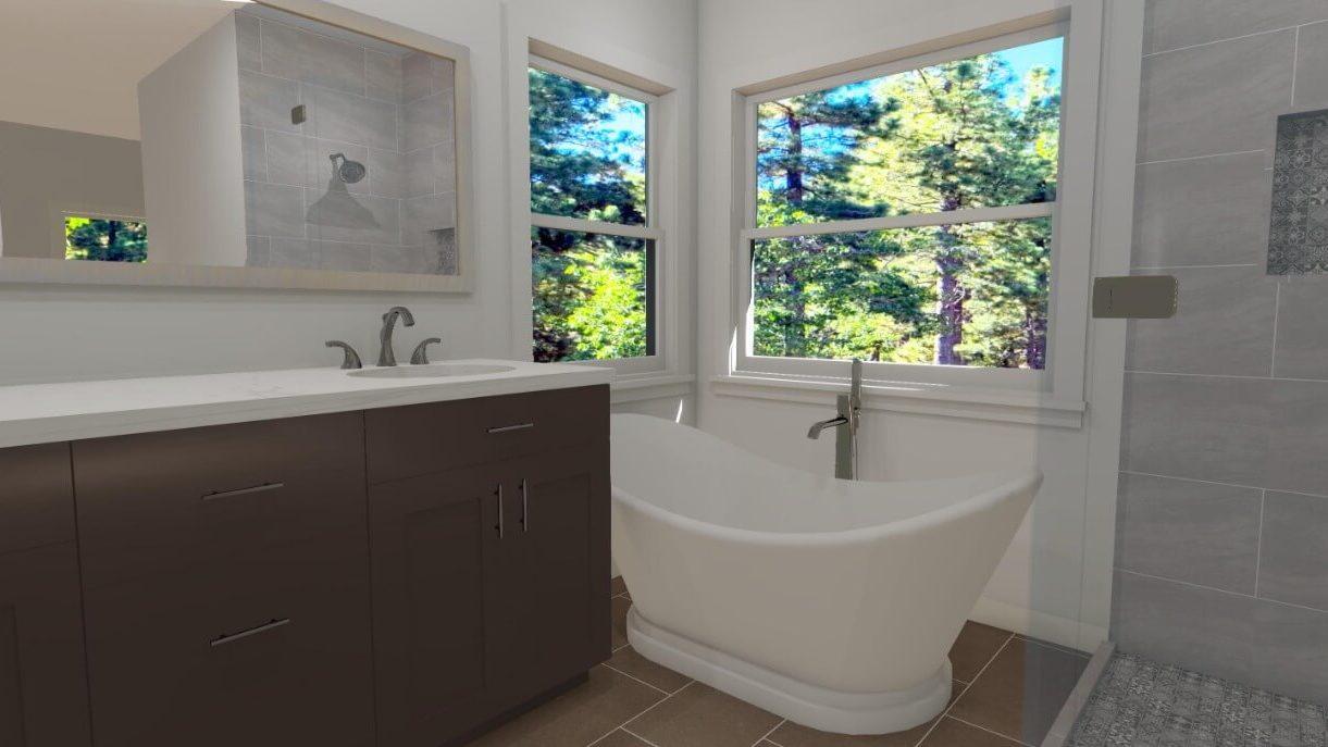 3D Bathroom Design in San Diego