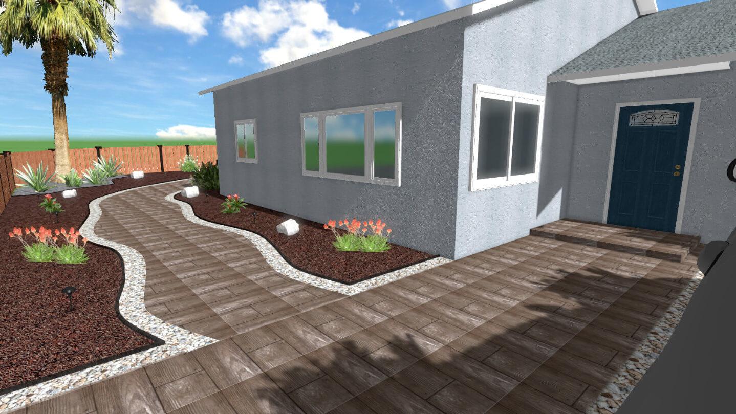 Landscape 3d Design with Plants