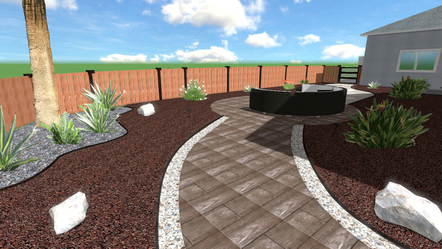 Landscape Design with Pavers Boulders and Gravel
