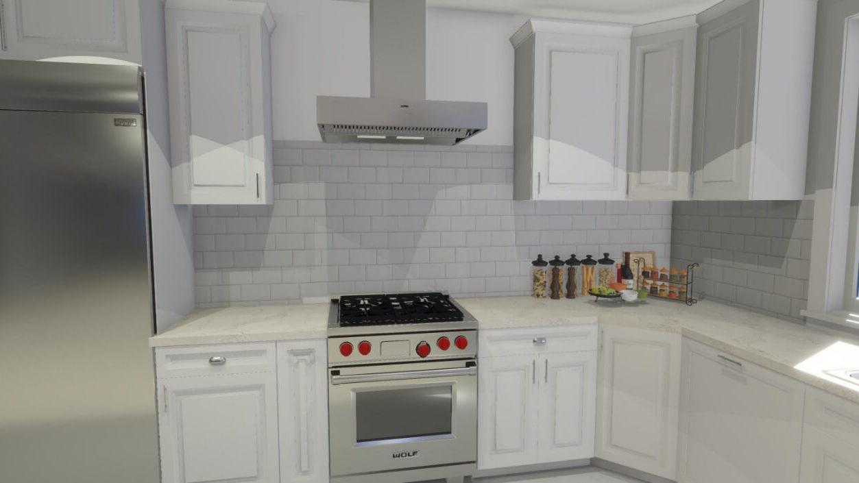 San Diego 3D Kitchen Design